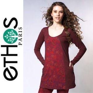 Ethos Paris Zofia Organic Tunic in Floral Print